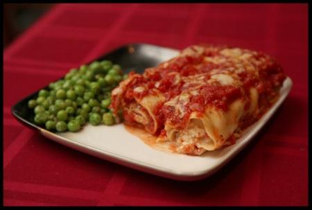 Manicotti with Prosciutto