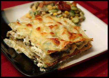 Pesto lasagna stacks