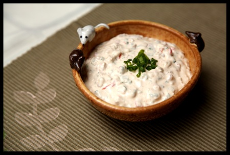 Chunky clam and bacon dip