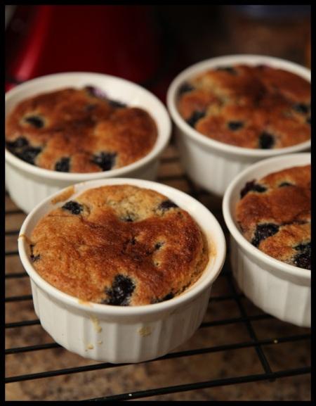 Blueberry-pecan buckles