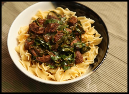 Carbonnade with collards