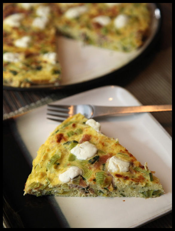 Leek, Prosciutto, and Goat Cheese Frittata | Rats In Teacups