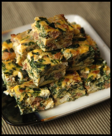 Frittata Bites with Chard, Sausage, and Feta | Rats In Teacups