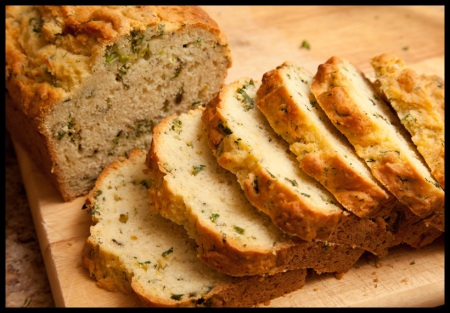 Herb and scallion quick bread