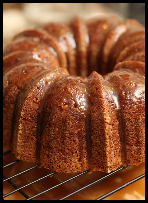 Apple-Spice Cake with Brown Sugar Glaze | Rats In Teacups