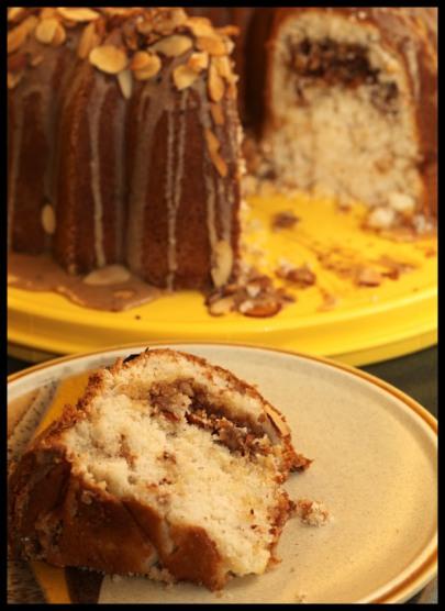 Almond streusel bundt cake