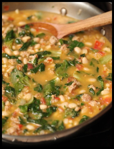 White bean and escarole stew