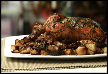 Parsley, sage, rosemary, and thyme roast chicken