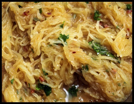 Spaghetti squash with Moroccan spices