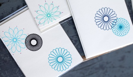 Spirograph notecards
