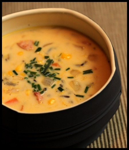 Corn and wild rice soup