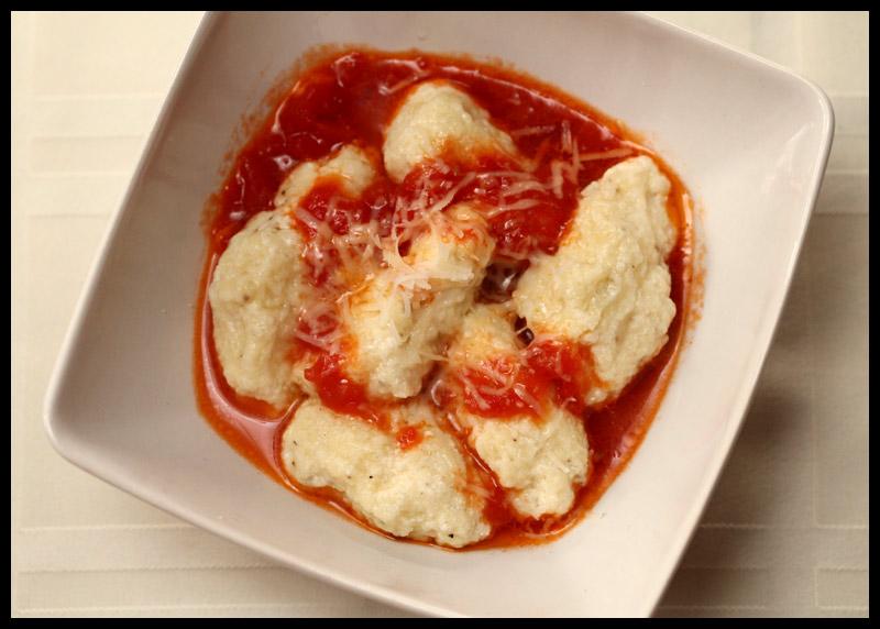 Ricotta Gnudi with Pomodoro Sauce | Rats In Teacups
