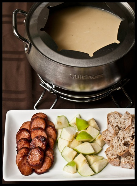 Gruyere and cider fondue
