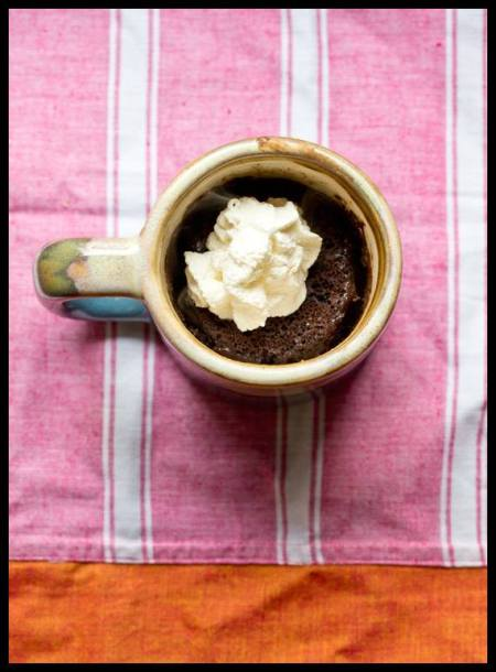 Microwave mocha mug cake