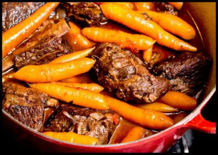 Red wine braised short ribs